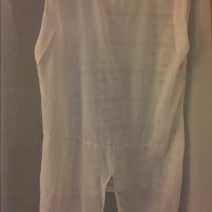 Zara off white shirt